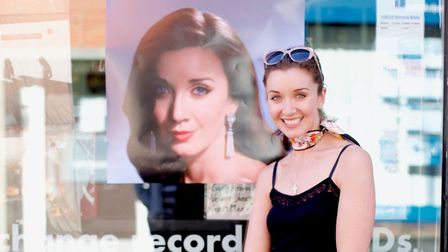 Carly Paoli celebrating the release of her debut album 'Singing My Dreams' at Tallbird Records, the last remaining record...