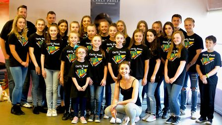 Carly with DTA students at the Chesterfield master class