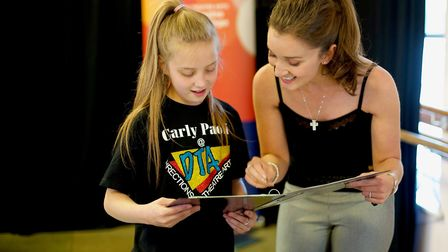 Carly encourages 13-year-old DTA student Ellie from Wirksworth
