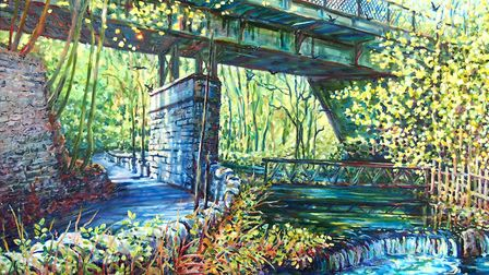 River, Road and Rail (oils on canvas)