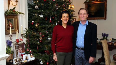 Charles and Caroline take so much care to ensure their home looks even more special throughout December