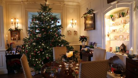 Festive decorations add to the seasonal atmosphere in the Drawing Room