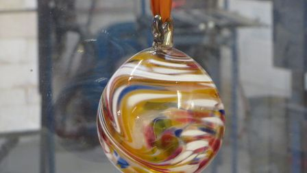 Glass Christmas Bauble Photo: Catherine Roth