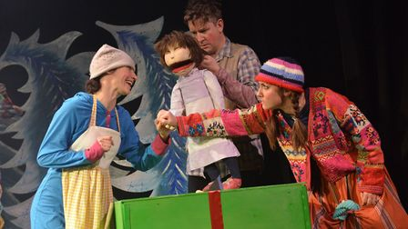 A scene from Naughty Meg and the Christmas Elves