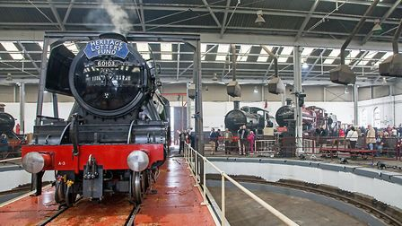 'Flying Scotsman' takes centre stage inside the renovated Roundhouse