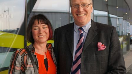 John and Cherry Burgess at the official opening of Derby Arena
