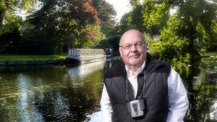 Philip Dalling at the entrance to the old Derby Canal at Sandiacre