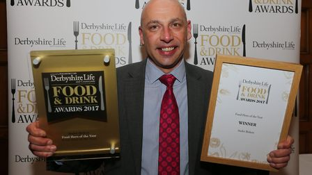 A delighted Andre Birkett was named Food Hero of the Year