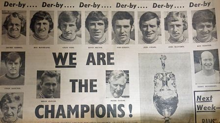 When Derby County FC won the Leauge Championship - from the Derbyshire Advertiser, 12th May 1972
