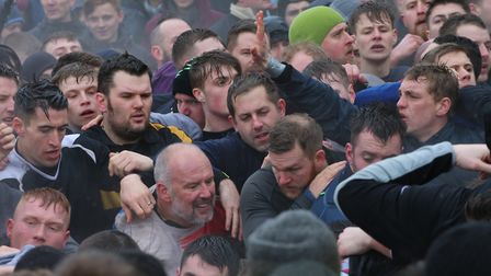 Concentration on the faces of the Up'ards and Down'ards competitors