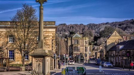 View of Bakewell town centre from the Rutland Arms