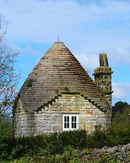 The much-photographed 'Round House' or 'Honey Pot' at Curbar