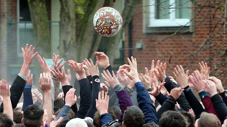 The balls surfaces briefly, to the delight of the crowd