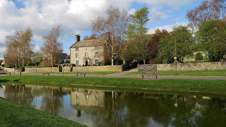 The duck pond at Hartington