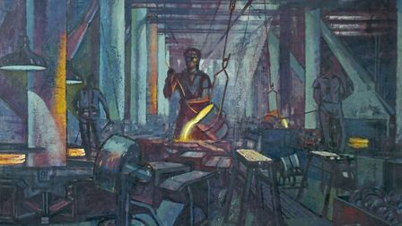 Foundry Scene, 1930-1940, unknown artist -® Derby Museums