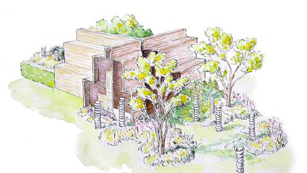 The design for the 2018 Brewin Dolphin Garden at RHS Chatsworth by Paul Hervey-Brookes
