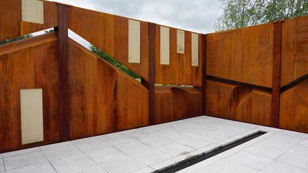 The wall feature in Paul's 2017 IQ Quarry Garden