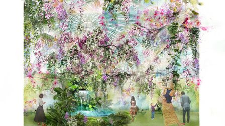 Jonathan Moseley's design for this year's RHS Chatsworth Show Artists_ Ula Maria