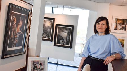 Maxine at home in the Bluebird Gallery