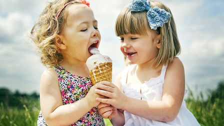 Ice cream for two at Bluebells