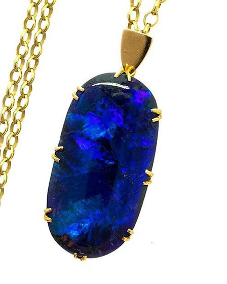 A black opal necklace which recently took Helen's eye at Hansons