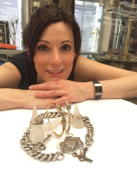 Helen Smith in the jewellery department at the saleroom at Hansons