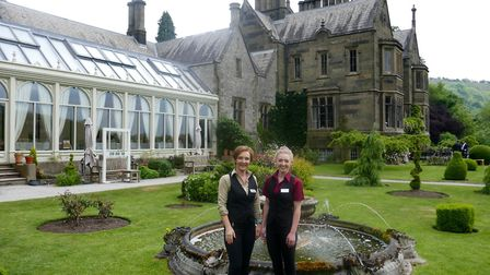 Harriet (left) and Emily, representing two generations of the Hull-Bailey family of Cressbrook Hall