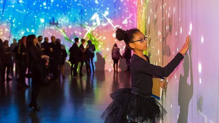 All ages enjoy QUAD - The TeamLab exhibition Photo: Charlotte Jopling