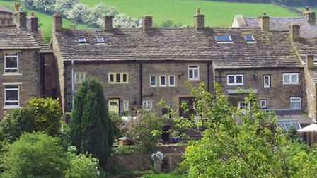 Character cottages in Hayfield by Sally Mosley