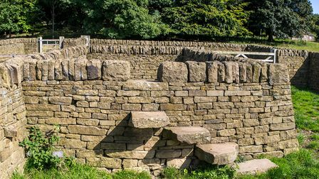 Wall built by Gordon and Jason Wilton for an Andy Goldsworthy exhibition at Yorkshire Sculpture Park