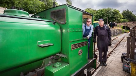 Pete Edginton, Driver; and Joe Carver, Driver/Fireman at the Ecclesbourne Valley Railway