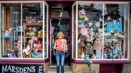 Sally Anne Swindell of Marsden's Gift Shop
