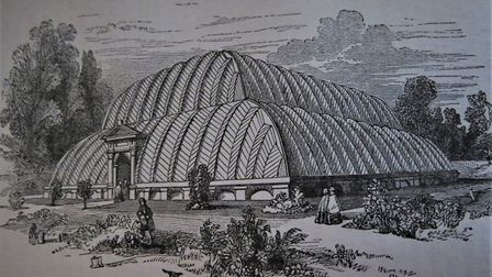 The Great Conservatory, Chatsworth, from 'On Foot through the Peak' by James Croston FSA, 1876