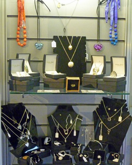 The jewellery display in the gallery