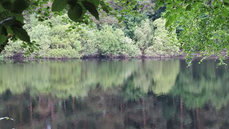 Reflections on Agden Reservoir by Sally Mosley