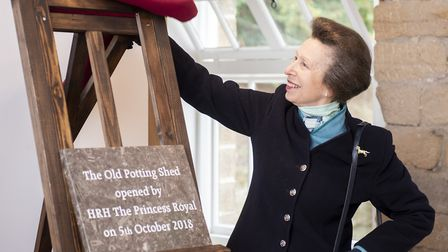 HRH Princess Royal officially opens the Old Potting Shed Photo: shoot-lifestyle.co.uk