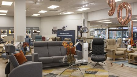 A selection of sofas and chairs