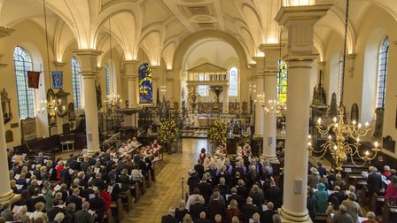 The uplifting service organised by High Sheriff Lucy Palmer took place at Derby Cathedral