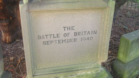 The central 'Milestone to Victory' at St Helen's Church in Darley Dale - presented by local resident Matthew Walker during th...