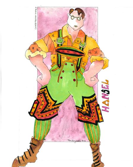 Tim Heywood's costume designs for Derby Theatre's Hansel and Gretel Photo: Tim Heywood