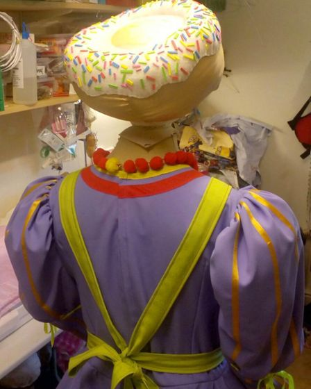 In the wardrobe department: a Dame's outfit for Buxton Opera House's panto Photo: Jo Deaville