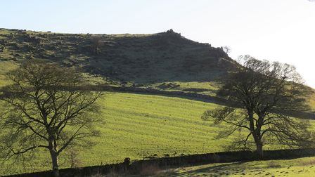 Rugged landscape with evidence of early farming at Roystone Grange