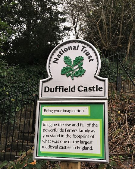 National Trust sign for Duffield Castle