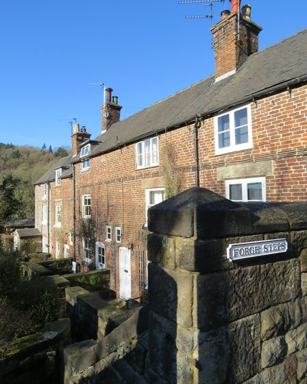 Forge Steps with their distinctive brick-built cottages