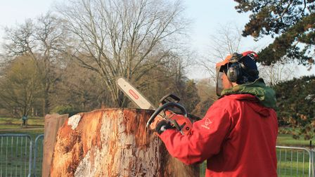 Andrew at work Photo: Claire Bore