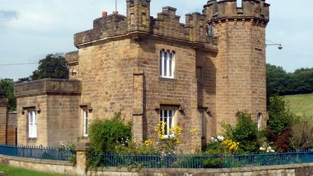 Castellated tower house in Edensor