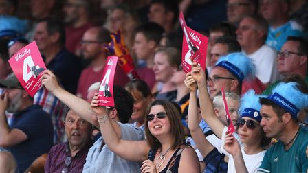 Fans during last season's Vitality Blast match between Derbyshire Falcons and Lancashire Lightning Photo: Nathan...