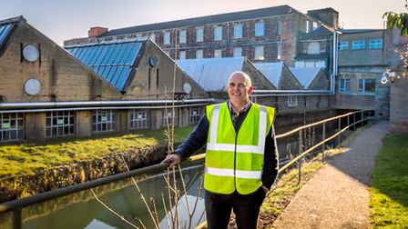 Iain Bradley, General Manager of Mayfield Yarns which occupies a mill site dating back to the 13th century