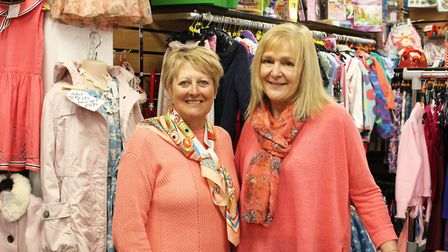 Cherry Wisher, celebrating the 30th anniversary of her idea for a retail adventure, with Margaret O'Connor