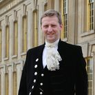 Derbyshire High Sheriff Lord Burlington outside his Chatsworth home